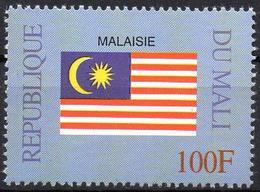 MALI 1999 - 1v - MNH** - Flag Of Malaysia Malaisie Flags Drapeaux Fahnen Bandiere Banderas флаги - Timbres
