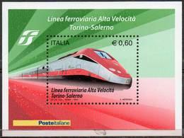 ITALY 2010 Turin-Salerno High Speed Railway Line - 6. 1946-.. Republic