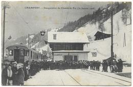 Champéry Inauguration Du Chemin De Fer 1908 - F Fumex - VS Valais
