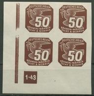 Böhmen & Mähren 1943 Zeitungsmarke 124 Y VE-3 Ecke Platten-Nr. 1-43 Postfrisch - Böhmen Und Mähren