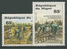 Niger 1983 Landwirtschaftliche Selbstversorgung Reisanbau 831/32 Postfrisch - Niger (1960-...)