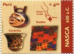 Lote P125, Peru, 2007, Culturas Indigenas Peruanas, Nasca, Indigenous Cultures, Sello, Stamp - Perú