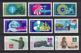DDR Between 1972 - 1982, Sport Und Technik, Boat Plane Shooting Diving **, MNH - Briefmarken