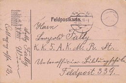Feldpostkarte Wien Nach K.k. 5. A.K. M.R.St. FP339 - 1916 (39621) - 1850-1918 Imperium