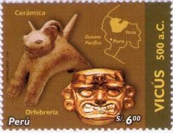 Lote P2006-13, Peru, 2006, Sello, Stamp, Vicus, Culturas Indigenas Peruanas, Indigenous Cultures - Perú