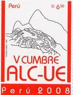 Lote P2008-13, Peru, 2008, Sello, Stamp, V Cumbre ALC-UE - Perú