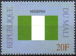 MALI 1999 - 1v - MNH** - Flag Of Nigeria Flags Drapeaux Fahnen Bandiere Banderas флаги - Timbres