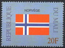 MALI 1999 - 1v - MNH** - Flag Of Norway Norvège Norwegen Flags Drapeaux Fahnen Bandiere Banderas флаги - Timbres