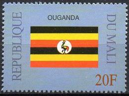 MALI 1999 - 1v - MNH** - Flag Of Ouganda Flags Drapeaux Fahnen Bandiere Banderas флаги - Timbres