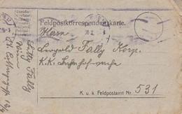 Feldpostkarte Wien Nach Eisenbahnwache FP 531 - 1918 (39623) - 1850-1918 Imperium