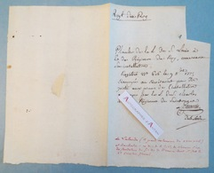 Jérôme Lefrançois De LALANDE Astronome & DAUBERTIN Franc Maçon - Pièce Manuscrite Autographe XVIIIè - La Lande - ROY - Autographes