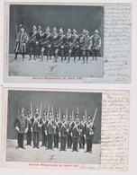 Steyrer Bürgercorps Im Jahre 1857 Und 1580 (2 Karten) Selten !! - Steyr