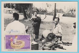 J.M; 25 - Carte Maximum Ou Carte Philatélique - N° 32 - Laos - Instrument à Percussion - Musique