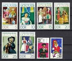 DDR 1974 + 1984, Mon Plaisir Dolls Puppen Marionette **, MNH - Puppen