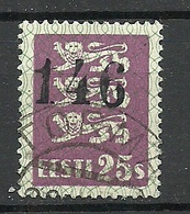 "ESTLAND Estonia 1929 Michel 83 O TORMA + Zählnummer ""146"" - Estland"