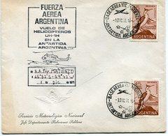 SOBRE FUERZA AEREA ARGENTINA VUELO HELICOPTERO UH-1H ANTARTIDA ARGENTINA 1971 BASE AEREA TTE. MATIENZO CHOPPERS- LILHU - Vuelos Polares