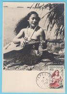 J.M; 25 - Carte Maximum Ou Carte Philatélique - N° 36 - Polynésie - Instrument à Cordes - Guitare - Musique