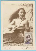 J.M; 25 - Carte Maximum Ou Carte Philatélique - N° 37 - Polynésie - Instrument à Cordes - Guitare - Musique
