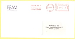 ITALIA - ITALY - ITALIE - 2002 - 00,77€ EMA, Red Cancel - TE.AM. SPA - Viaggiata Da Lugo Per Lugo - Affrancature Meccaniche Rosse (EMA)