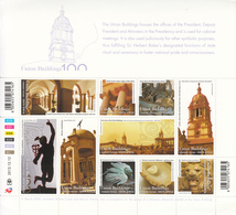 2013 South Africa Union Buildings Pretoria Architecture 2 Miniature Sheets Of 10 MNH - Unused Stamps