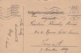 Feldpostkarte Graz Nach K.u.k. Reserve Spital Krems - 1916 (39626) - Briefe U. Dokumente