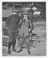 LAFFONT Et POLA Devant Leur Aéroplane Antoinette Avant Leur Départ D' Issy Les Moulineaux 1911 - Old Paper