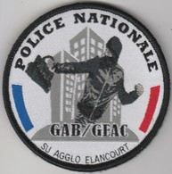 Écusson Police GAB-GEAC Elancourt (78) - Police & Gendarmerie
