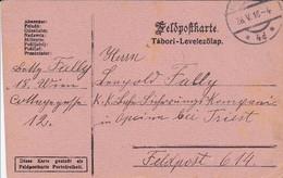 Feldpostkarte Wien Nach K.k. Bahn-Sicherungs-Kompanie Opcina Bei Triest FP 614 - 1916 (39627) - 1850-1918 Imperium