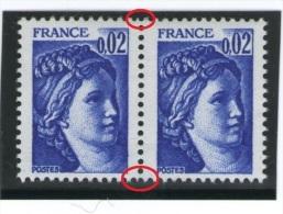 Sabine Paire De 1963 - Plus Petit/normal-(moins Large) - Rare Merveille De TD3_(v65) - Variétés: 1970-79 Neufs