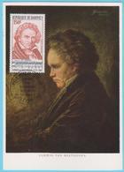 J.M; 25 - Carte Maximum Ou Carte Philatélique - N° 43 - Dahomey - Compositeur - L. V. Beethoven - Musique
