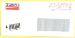 ITALIA - ITALY - ITALIE - 2002 - 03,35€ EMA, Red Cancel - Gruppo Lombardini - Raccomandata - Comprabene SPA - Viaggiata - Affrancature Meccaniche Rosse (EMA)