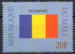 MALI 1999 - 1v - MNH** - Flag Of Romania Roumanie Flags Drapeaux Fahnen Bandiere Banderas флаги - Timbres