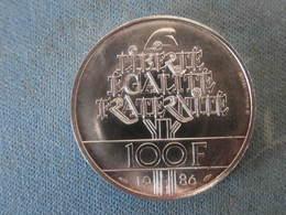 Pièce De 100 Francs Commémorative, Statue De La Liberté, En Argent, Année 1986 - France