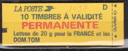 FRANCE Carnet 10 Timbres à Validité Permanente  N° 2806-C1** - Usage Courant