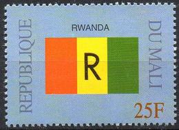 MALI 1999 - 1v - MNH** - Flag Of Rwanda Ruanda Flags Drapeaux Fahnen Bandiere Banderas флаги - Timbres