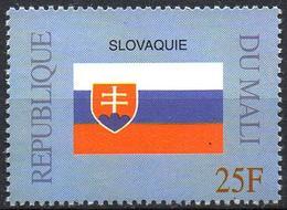 MALI 1999 - 1v - MNH** - Flag Of Slovakia Slowakei Flags Drapeaux Fahnen Bandiere Banderas флаги - Timbres