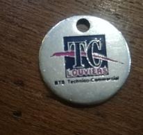 Jeton Caddie      TC LOUVIERS école Des Fontenelles - Trolley Token/Shopping Trolley Chip
