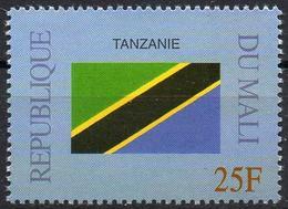 MALI 1999 - 1v - MNH** - Flag Of Tanzania Flags Drapeaux Fahnen Bandiere Banderas флаги - Timbres