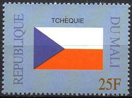MALI 1999 - 1v - MNH** - Flag Of Czech Republic Tchéquie Flags Drapeaux Fahnen Bandiere Banderas флаги - Timbres