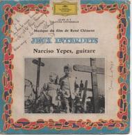 45T.  BO Film  :  JEUX INTERDITS - Narciso Yepes, Guitare - Filmmusik