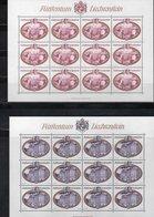 """LIECHTENSTEIN AÑO 1977 SERIE IVERT 621/624,  PLIEGOS  """" CASTILLOS """"  MNH. - Liechtenstein"""