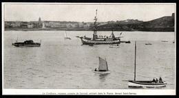 1927 - SAINT MALO  LA CONFIANCE VAISSEAU CORSAISE DE SURCOUF SAINT SERVAN  3Q747 - Old Paper