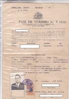 CONSULADO GENERAL DE CHILE EN BUENOS AIRES, PASE DE TURISMO. AÑO 1938 CON TIMBRE FISCAL. SIGNEE - BLEUP - Documentos Históricos