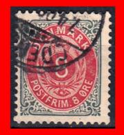"DINAMARCA SELLO DE SERIE AÑO 1870 -1875 EMBLEMA REAL. EMBLEMA REAL. VALOR EN ""ØRE"". - 1864-04 (Christian IX)"