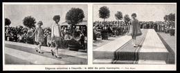 1927  --  DEAUVILLE  ELEGNACE ENFANTINES  DEFILE DES PETITS MANEQUINS  3Q748 - Old Paper