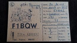 CPSM QSL RADIO AMATEUR EPINAY 93 F1BQW DEVISE DES 3 MOUSQUETAIRES 1971 - Radio Amateur