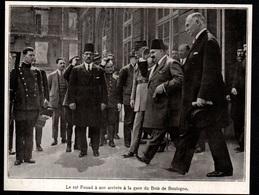 1927  --  LE ROI FOUAD D EGYPTE A SON ARRIVEE GARE DU BOIS DE BOULOGNE  3Q750 - Old Paper