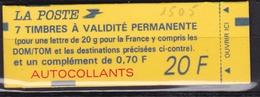 FRANCE Carnet 7 Timbres à Validité Permanente  N° 1505** - Carnets