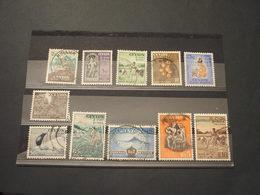 SRI LANKA/CEYLON - 1954 PITTORICA 11 VALORI - TIMBRATI/USED - Sri Lanka (Ceylon) (1948-...)