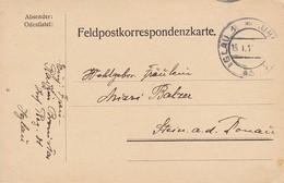 Feldpostkarte Inf. Reg. 81 Iglau Nach Stein/Donau - 1. WK (39634) - 1850-1918 Imperium